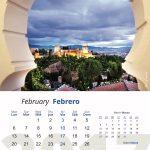 Mes de febrero del calendario 2017