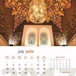 Mes de julio del calendario 2017