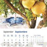 Mes de septiembre del calendario 2017
